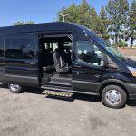 Ford Transit 350 HD XLT  8 passenger charter shuttle coach bus for sale - Gas 3