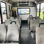 Ford Transit 350 HD 12 passenger charter shuttle coach bus for sale - Gas 12