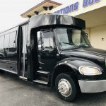 Freightliner M2 33 passenger charter shuttle coach bus for sale - Gas 1