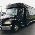 Freightliner M2 33 passenger charter shuttle coach bus for sale - Gas 9