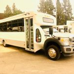 Ford F550 Super Duty 29 passenger charter shuttle coach bus for sale - Diesel 1