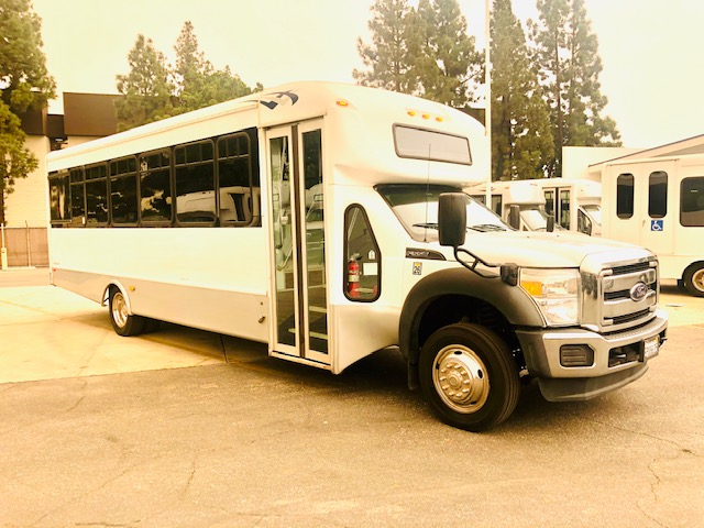Ford F550 Super Duty 29 passenger charter shuttle coach bus for sale - Diesel