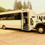 Ford F550 Super Duty 29 passenger charter shuttle coach bus for sale - Diesel 2