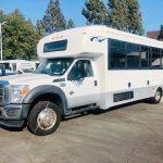Ford F550 Super Duty 29 passenger charter shuttle coach bus for sale - Diesel 3