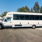 Ford F550 Super Duty 29 passenger charter shuttle coach bus for sale - Diesel 4