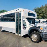 Ford F550 Super Duty 29 passenger charter shuttle coach bus for sale - Diesel 1