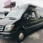 Mercedes 13 passenger charter shuttle coach bus for sale - Diesel 9