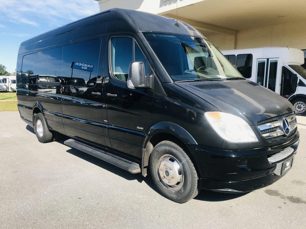 Mercedes 14 passenger charter shuttle coach bus for sale - Diesel