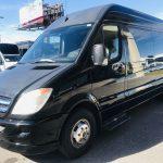 Mercedes 14 passenger charter shuttle coach bus for sale - Diesel 8