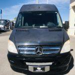 Mercedes 14 passenger charter shuttle coach bus for sale - Diesel 9