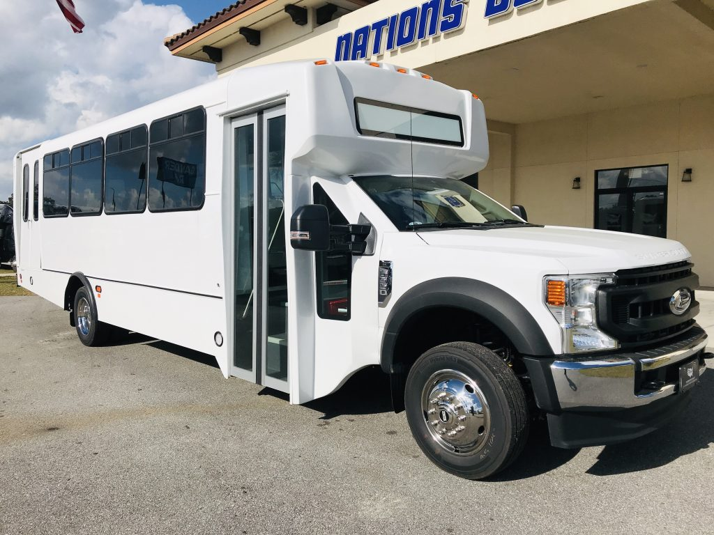 Ford F550 30 passenger charter shuttle coach bus for sale - Gas
