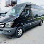 Mercedes 10 passenger charter shuttle coach bus for sale - Diesel 7