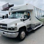 Chevy C5500 34 passenger charter shuttle coach bus for sale - Diesel 8