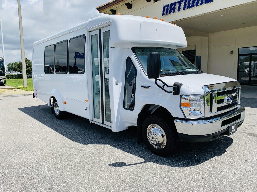 Ford E-350 14 passenger charter shuttle coach bus for sale - Gas