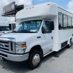 Ford E-350 14 passenger charter shuttle coach bus for sale - Gas 7
