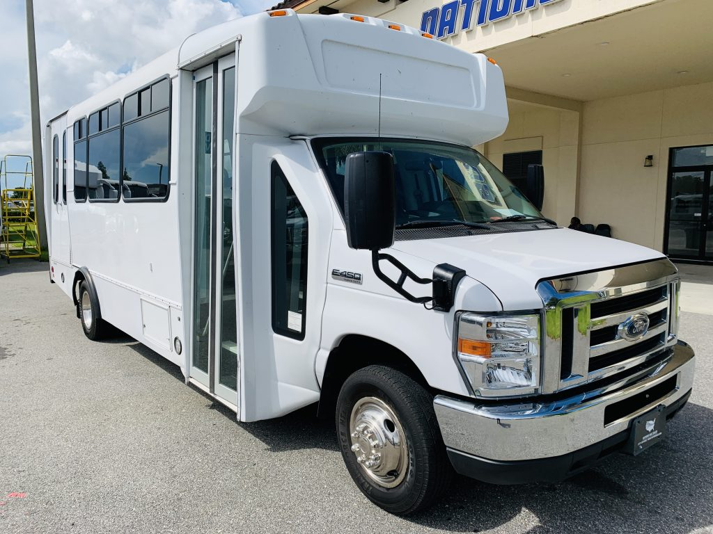 Ford 16 passenger charter shuttle coach bus for sale - Gas