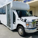 Ford 16 passenger charter shuttle coach bus for sale - Gas 1
