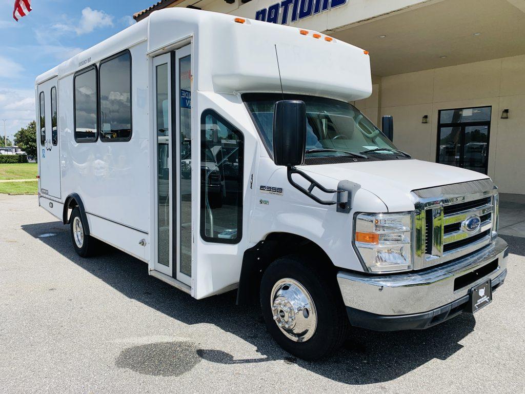 Ford E-350 6 passenger charter shuttle coach bus for sale - Gas