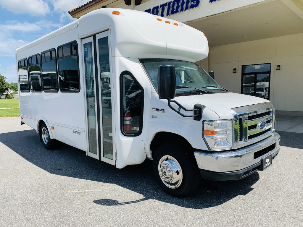 Ford E-350 20 passenger charter shuttle coach bus for sale - Gas