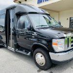 Ford E-350 13 passenger charter shuttle coach bus for sale - Gas 1