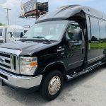 Ford E-350 13 passenger charter shuttle coach bus for sale - Gas 8