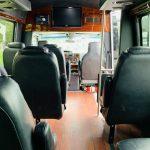 Ford E-350 13 passenger charter shuttle coach bus for sale - Gas 12