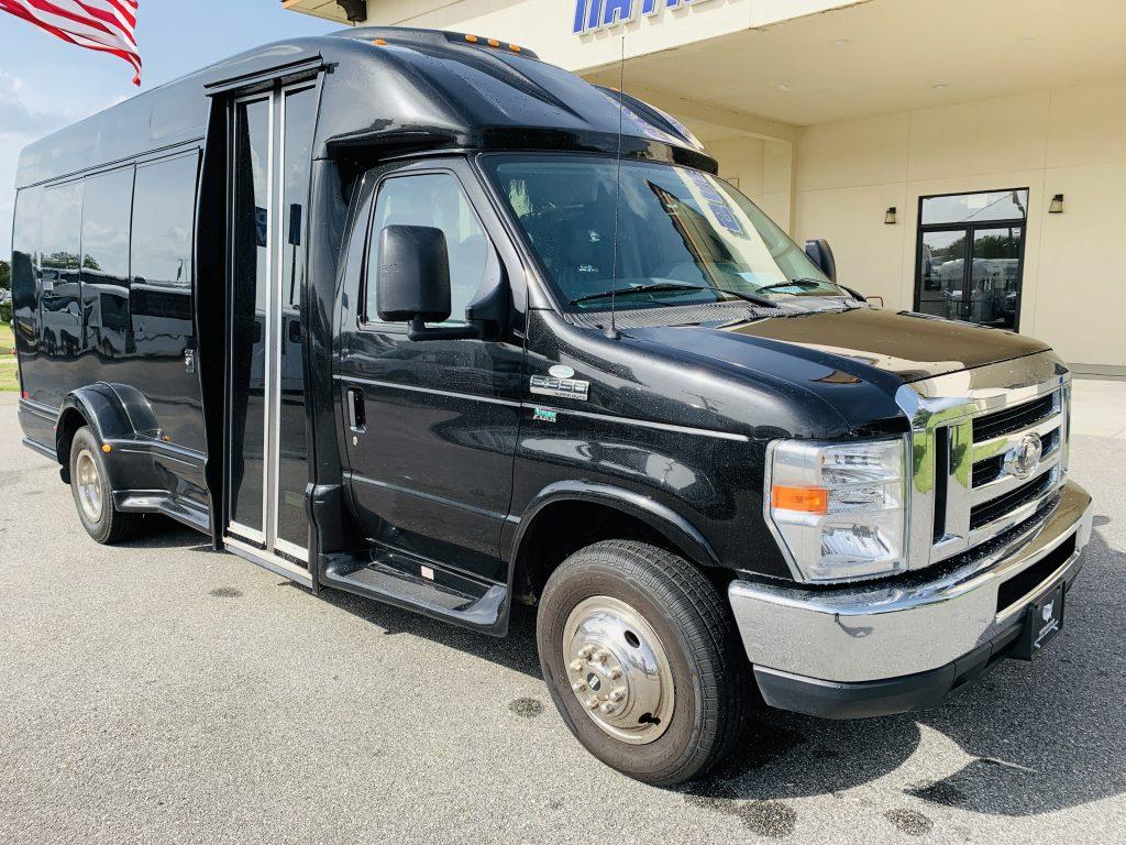 Ford E-350 13 passenger charter shuttle coach bus for sale - Gas