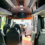 Ford E-350 13 passenger charter shuttle coach bus for sale - Gas 13