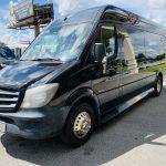 Mercedes Benz 13 passenger charter shuttle coach bus for sale - Diesel 8
