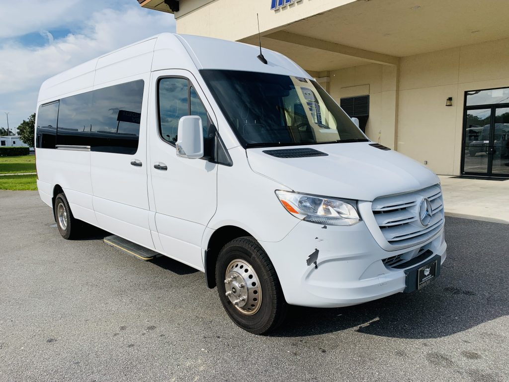 Mercedes Benz 11 passenger charter shuttle coach bus for sale - Diesel